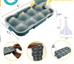 Round Ice Cream Mold Australia - 8 Cell Ice Cream Pop Mold Silicone Ice Ball Cube Mold Sphere Ice Tray Forms Round Cube Tray Ball Maker Dia 4 .5cm
