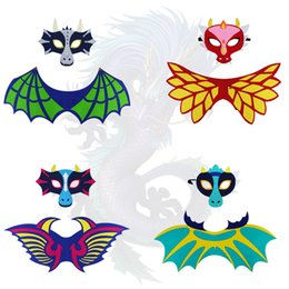 Wholesale costume dragons for sale – halloween A new set of dragon wings fire dragon ice dragon Halloween costumes