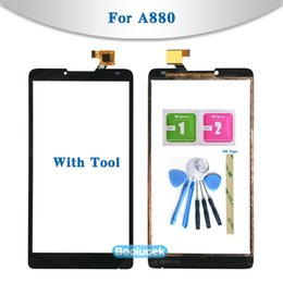 "Lenovo Touch Screen Replacement Australia - High Quality 6.0"" For Lenovo A880 Touch Screen Digitizer Sensor Outer Glass Lens Panel Replacement"