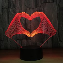 $enCountryForm.capitalKeyWord Australia - Hand Gesture Heart Stereo Image LED 3D Visual Night Light Creative Bedroom Lamp Decoration Touch Sensor Illusion Lamp Wholesale Dropshipping