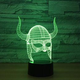 $enCountryForm.capitalKeyWord NZ - 3D Horn Helmet Optical Illusion Lamp Night Light DC 5V USB Powered 5th Battery Wholesale Dropshipping Free Shippin