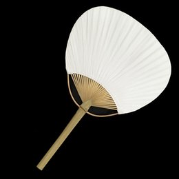 fan party favors Canada - Paddle Hand Fans with Bamboo Frame and Handle Wedding Party Favors Gifts Paddle Paper Fan Spanish Fan wen5858