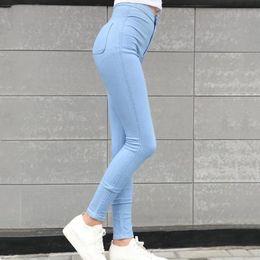 0c08d992c780c Women Skinny Elastic Stretch Jeans 2018 Girls High Waist Plus Size Pencil  Pants Female Vintage Slim Trouser Ladies Straight Pant