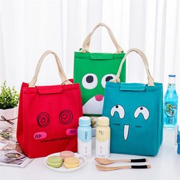 $enCountryForm.capitalKeyWord Canada - Cute Girls Cartton Printing Drawstring portable Lunch Bag Thermal Insulated Box Tote Cooler Bag Pouch Lunch Storage Case