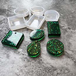 Silicone Handmade Tools Australia - 5 Pieces set DIY Pendant Resin Silicone Jewelry Molds Handmade Tool Wholesale