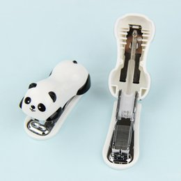 mini stationery sets Australia - 2018 Cartoon Mini Panda Stapler Set School Office Supplies Stationery Paper Binding Binder Book staplers with 1000pcs staples