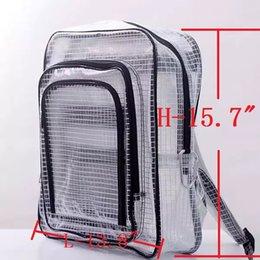 Vente en gros 40cm * 35cm * 15cm anti-statique clair pvc sac à dos sac couverture complète par pvc pour ingénieur mettre outil informatique travaillant dans la salle blanche deviley par EMS