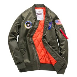 China High Design Thick Style Mens Ma1 Bomber Jacket Pilot Jacket Men Flying Tiger Embroidery Sport Windbreak Sweethearts Outfit Jacket supplier sweetheart pockets suppliers