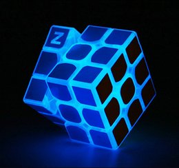 Free educational game online shopping - Free DHL Puzzle cube cm Noctilucous Luminous Magic Rubik Cube Game Rubik Learning Educational Game Rubik Cube Decompression toys B
