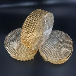 "$enCountryForm.capitalKeyWord Australia - Party 1 .5 ""X10 Yards Wedding Wrap Mesh Bling Ribbon Home Table Party Decorations Rhinestone Crystal Gold Diamond Mesh Diy Type"