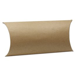 $enCountryForm.capitalKeyWord UK - 17*10*4cm New Style Kraft Paper Brown Pillow Shape Wedding Favor Gift Box Party Event Candy Sweet Chocolate Packaging Craft Box freeship