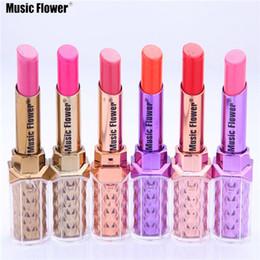 $enCountryForm.capitalKeyWord Australia - Music Flower Hot Selling 12 colors Fashion Makeup Bright Lipstick Waterproof Long Lasting Baby Pink Miosturizer Lipstick