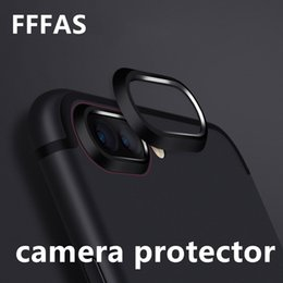 Wholesale FFFAS Cellphone Camera Lens Film Case Protector Drop Fall Protect Metal Cover for Apple Iphone X Plus Guard Black Gold Rose