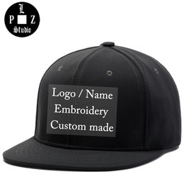 f842d50e38a PLZ Custom Logo Snapback Baseball Cap Name Embroidery Sample Hat Customized  Gift For Adult Men Women Family Team Custom made Hat