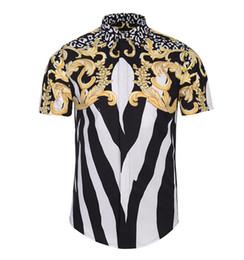 $enCountryForm.capitalKeyWord UK - Europe men's new digital 3D creative fashion personality striped Floral Printed Shirt Short Sleeved Shirt Youth tide