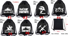 China Fortnite Royale Battle Cosplay backpack teenager Canvas Drawstring bag students book Shoes Shoulder bags Kids Gift Beach Pouch Pocket ASDFG cheap kids christmas books suppliers