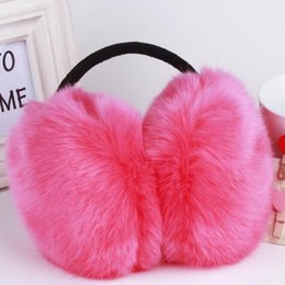 $enCountryForm.capitalKeyWord UK - Wholesale- Fashion Rabbit Fur Women Earmuffs For Brand Winter Earmuffs Comfortable Warm Ear Cover Ear Warmers For Girls Adjustable