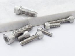 Wholesale Screws NZ - High Quality 100pcs M4 M5 M6 DIN912 304 Stainless Steel Hexagon Socket Head Cap Screws Hex Socket Bicycle Bolts HW003