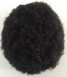 China 10 A Grade Afro curl toupee black virgin brazilian remy hair men toupee 7x9 size human hair toupee for black men free shipping cheap afro curl full lace wigs suppliers