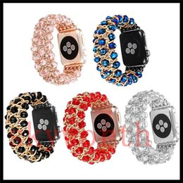 Shine band online shopping - For Apple Watch mm mm Band Pearl Metal watchband replacement straps beautiful shining Jewelry beads metal for smart Watch