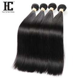 high quality weaves Australia - High Quality Brazilian Malaysian Human Hair Dye and Bleach Hair Bundles Natural Color Hair Extensions Natural Weave