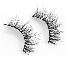 Mink Hair False Eyelashes Canada - MA17 3D mink eyelashes 100% Siberian Mink hair False Eyelashes New Messy Luxurious Eyelash Fake Eye lashes 100% Siberian Mink hair