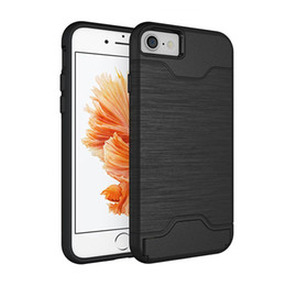 $enCountryForm.capitalKeyWord NZ - Metal Colour Case for iphone 5 5s SE 6 6s with kickstand Holder stand 2 in 1 Silicone & plastic Shockproof credit card slot