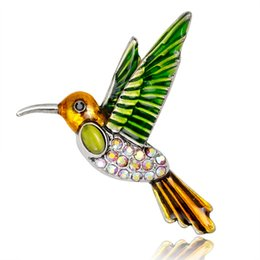 Discount swallow coat - Alloy Enamel Swallow Brooch Pins Metal Scarf Pins Banquet Clips Coat Collar Badge Bag Accessories