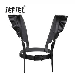Chinese  iEFiEL Fashion Style Women PU Leather Punk Straps Adjustable Belts-Body Harness Belt Body Chain Suspenders with Shoulder Straps manufacturers