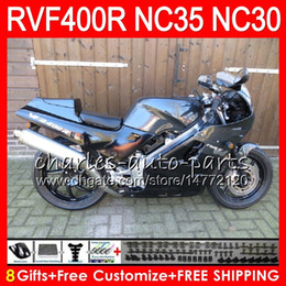 29 r NZ - RVF400R For HONDA VFR400 R NC30 V4 VFR400R 89 90 91 92 93 82HM.29 RVF VFR 400 R NC35 VFR 400R 1989 1990 1991 1992 1993 Fairings Black grey