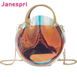 Handbags Bling Australia - JANESPRI Transparent Women Crossbody Composite Bag Women Messenger Bling Laser Handbag Girls Chain Colorful Hologram Tote Bag