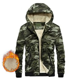 China Winter Mens Casual Fleece Jacket Camouflage Army Warm Thicken Outwear Men Stretch Fabric Designer Trendy Coat Windbreakers cheap jacket fabrics suppliers