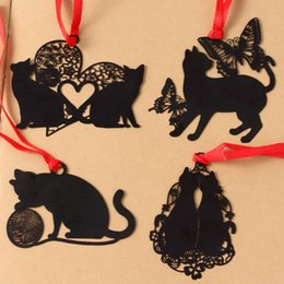 Cute korean bookmarks online shopping - 1 Lovely Creative Kawaii Metal Book Markers Marque Page Cute Cat Bookmark For Books Paper Clip Korean Stationery Supplies