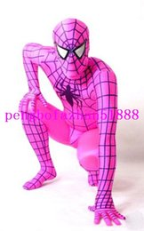 Homme Spandex Rouge Hommes Pas Cher-Unisexe Fantaisie Spiderman Body Costumes New Rose Rouge Lycra Spandex Spiderman Hero Costume Catsuit Costumes Unisexe Spider-Man Suit Outfit 134