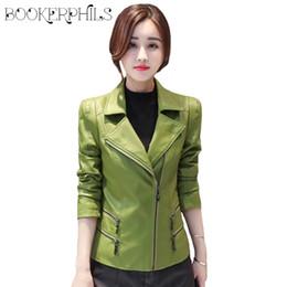 6731a4eae14 Autumn Winter Leather Jacket Women Short Black Soft Faux Leather Coat Plus  Size 2018 Ladies Motorcycle Female Outwear M-4XL