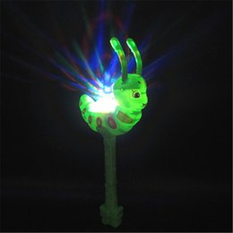 light stick glowing wand NZ - Cute Funny Sugar Treasure Flash Music Light Magic Stick Glow Stick Electronic Magic Wand Luminous Birthday Toy Gifts for Kids H251
