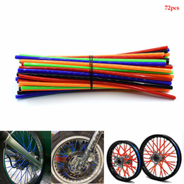 wrap kits Australia - For Universal 72pcs Motorcycle Dirt Bike Wheel Rim Spoke Skins Covers Wrap Tubes Decor Protector Kit FOR KTM 400 450 525 SX EXC
