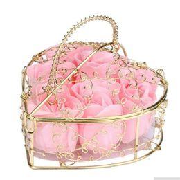 $enCountryForm.capitalKeyWord UK - Creative Valentines Day Rose Iron Bar Box Packed Handmade Rose Soap Flower Simulation Flower Soap Birthday Party Gifts