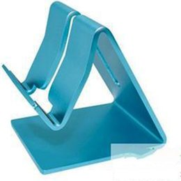 TableT pc sTands online shopping - Universal Aluminum Metal Cell Phone Tablets PC iPad Desk Stand Holder Blue Bracket Holders For iPad iPhone Samsung Q88