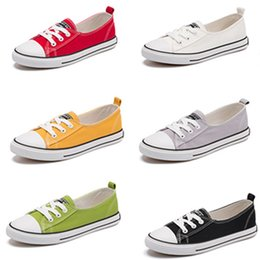 $enCountryForm.capitalKeyWord NZ - Women Low-top Sneakers Canvas Shoes Casual Laced Up Shoes Summer Comfortable Runnng Plimsolls Girls Students cosplay shoes Unisex cosplay
