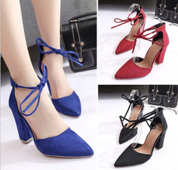 $enCountryForm.capitalKeyWord Canada - European and American style 2019 sexy dress shoes women high heel shoes fashion lace-up pointed toes evening party shoes feiyue2026