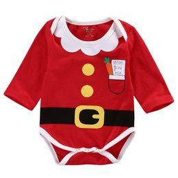 Santa Claus Girls Jumpsuit Australia - Christmas 0-18M Cute Santa Claus Newborn Clothing Baby Rompers Bib Cotton Baby Boy Girl Clothes Set Jumpsuit Outfit Pajama Sets Y18102907