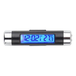 Discount auto clocks car - New 2 in1 Car Clock Auto LCD Clip-on Digital Backlight Automotive Thermometer Clock Calendar automotive digital car Hot