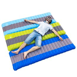 $enCountryForm.capitalKeyWord NZ - 185*65*12cm Inflatable Single Person Outdoor Air Mattress Folding Sleeping Bed Moistureproof Camping Tent Travel Sleeping Mat