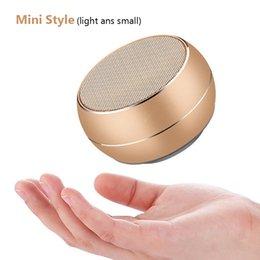 Free calling computer online shopping - LED protable speaker wireless bluetooh R9 mini metal speaker support fm tf hands free calling for mobile phone ipad