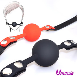 Sex Open Ball Australia - Sex Open Mouth Gag Harness Oral Fixation Leather Band Ball Gag Mouth Plug Adult Restraint Slave Bondage Sex Toys for Couples Y18102405