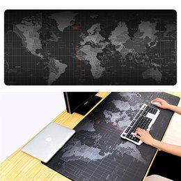 Pad Locks NZ - Extra Large Mouse Pad Old World Map Gaming Mouse pad Anti-slip Natural Rubber Gaming Mouse Mat with Locking Edge for Laptop Computer
