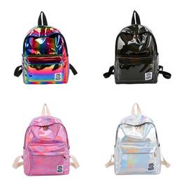 Large Lasers online shopping - Women Fashion Laser Backpack Colorful  Rainbow School Shoulder Bag PU Handbag 7dd50f15e81d8