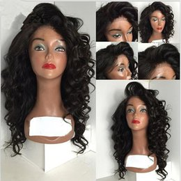 Deep Curly Indian Lace Wig Australia - 150% Density Full Lace Band Frontal Wig For Black Women Loose Deep Wave Curly Virgin Human Hair Wigs Pre Plucked Natural Hairline
