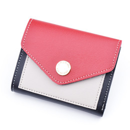 credit card pocket lights UK - Women Short Wallets Pu Leather Mini Purse Card Holder Female Perse for Money Card Holder Thin Slim Small Light